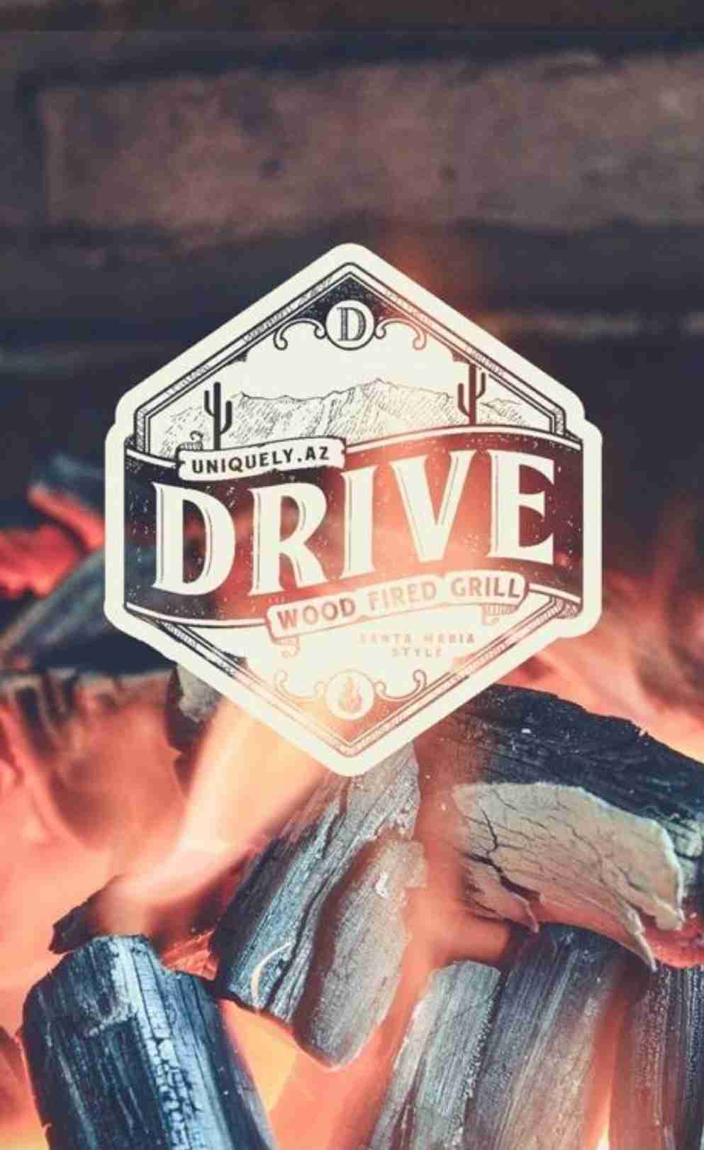 Drive wood fired grill